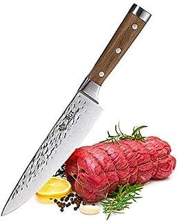 BGT Japonés 67 capas de alto grado VG-10 cuchillos de acero de Damasco, afilados, mango de teca, cuchillo de cocina profesional martillado Damasco 8
