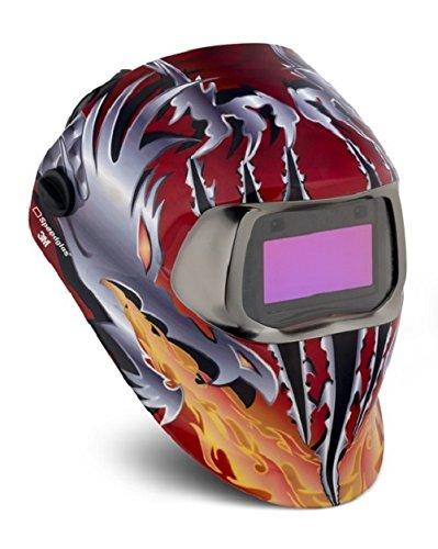 3M Speedglas Schweißhelm 100futurecombatant mit Schweißhelm Filter 100V 07–0012–31FC, 1