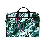 HUAYEXI Bolsa para portátil de 15-15,4 Pulgadas,Urban Rider Abstract Camouflage Wallpaper Skateboarding,Bolso Hombro-Ordenador-Portátil