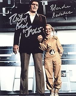 RICHARD KIEL and BLANCHE RAVALEC as Jaws and Dolly - James Bond: Moonraker GENUINE AUTOGRAPHS