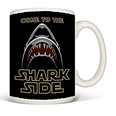 Come to the Shark Side 15 Oz Ceramic Coffee Mug
