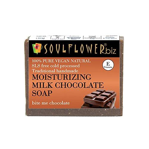 Soulflower Handmade Milk And Chocolate Soap, 150g