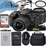 Nikon D5600 DSLR Camera 24.2MP Sensor with NIKKOR 18-55mm f/3.5-5.6G VR Lens, SanDisk 32GB Memory Card, Case, Tripod and A-Cell Accessory Bundle (Black)