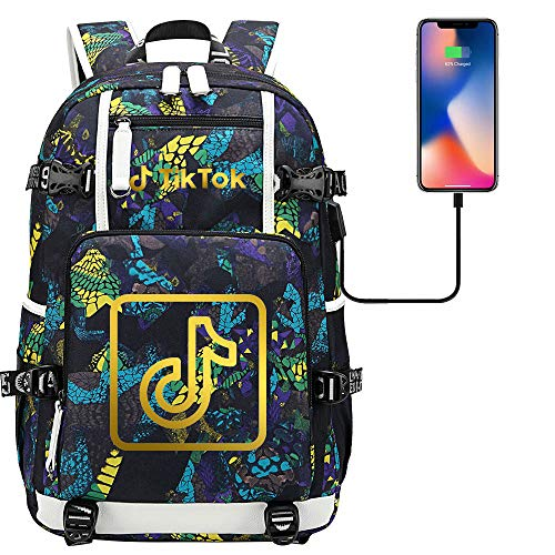 Travel Backpack Unisex Casual Backpack Laptop Tablet Computer USB Charging Port Camping Backpack 45 cm x 30 cm x 15 cm. Type B.