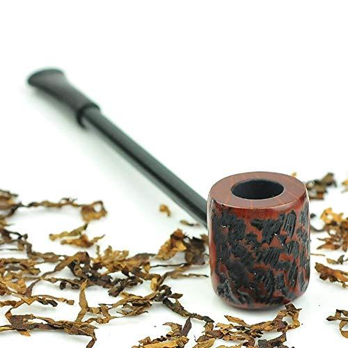 Hjd Pipe Geschnitzte Retro Pfeife Zigarre Zubehör Papier Tabakpfeife Gadgets for Männer Pipe (Color : A)
