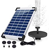 AISITIN Solar Water Fountain 5.5W 1500mAH Battery Backup Solar Floating Fountain Pump, 6 Nozzles, for Bird Bath, Fish Tank, Pond Garden