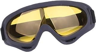 Homyl Óculos de equitação para uso ao ar livre Óculos de impacto para motociclismo, óculos de esqui – Amarelo