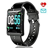 CatShin Smartwatch Fitnessuhr-CS09 IP67 Fitness Armbanduhr Fitness Tracker Wasserdicht Armband Sport...