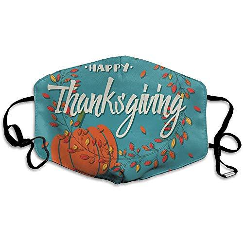 Mond Maskers Anti-stof, Gelukkige Thanksgiving Dag Pompoen Warm Gezicht Masker Trendy Cover Filters Allergens
