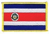 Flaggen Aufnäher Costa Rica Fahne Patch + gratis