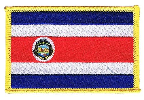 Flaggenfritze Flaggen Aufnäher Costa Rica Fahne Patch + gratis Aufkleber