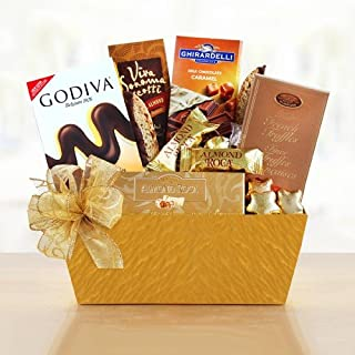California Delicious Holiday Gold Rush Chocolate Gift Basket