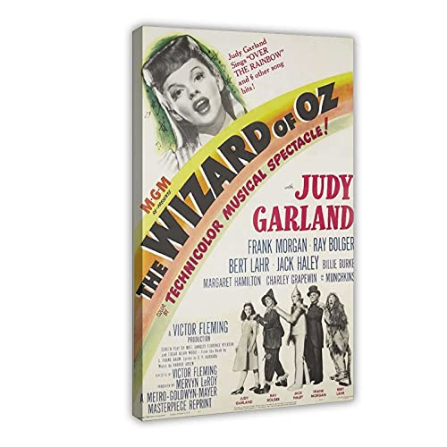 Judy Garland Movie Canvas Poster Bedroom Decor Sports Landscape Office Room Decor Gift Frame; 16×24inch(40×60cm)