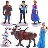 JPYH 6 PCS Princesa Congelada Cake Topper, Mini Juego de Figuras Niños, Shower Fiesta de Cumpleaños Pastel Decoración Suministros