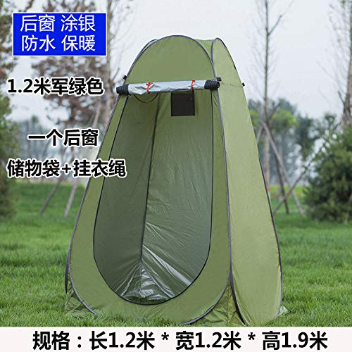 Fishing Bathing Tents ,Automatic pop-up tent Outdoor bathing tent Household bath tent thickening and warmth Changing room cover Portable mobile toilet Beach changing sunscreen tent-1.2m 1 window