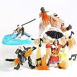 Cheaaff KY FJKYF Anime Modelo estatuauna Pieza Choshinsei Trafalgar Law Urouge X Drake Scratchmen Apoo PVC Figuras coleccionables 4 unids / Set 7-11Cm