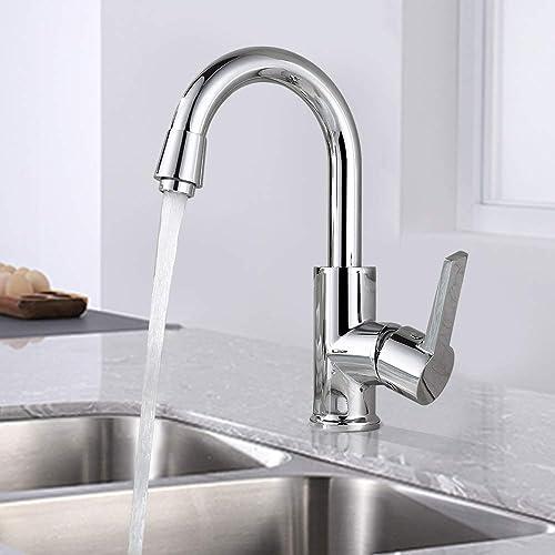 HOMELODY Robinet de salle de bain Robinet de cuisine rotatif 360 ° Robinet de lavabo ou Robinet de cuisine chromé à l...