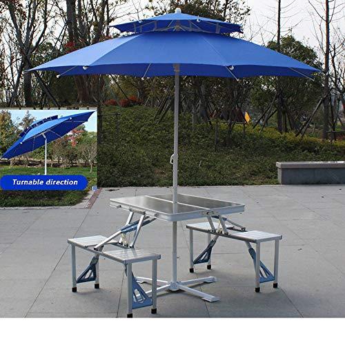 HXPH Klapptisch im Freien Siamesischer Tisch und Stuhl EIN Schreibtisch tragbarer tragbarer Picknickgarnitur Aluminiumtisch