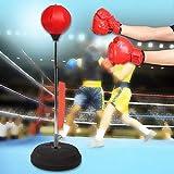 Wakects Punchig Ball Adult Boxing Bag, Pratico Pugilato Piede da Boxe Altezza Regolabile d...