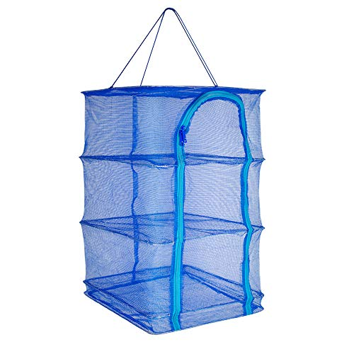 Vinmax Foldable Drying Rack for Fish Vegetables Fruit Herb Practical Hanging Net Dry Cage (15.7x 15.7 x 25.6 inch)