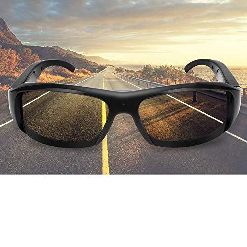 lahomie- Gafas de sol para cámara de sol, videocámara para mini gafas de sol recargables USB 1080P HD de exterior