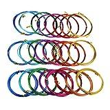 24 rollos de alambre de aluminio multicolor para manualidades y esculturas, 3 tamaños surtidos (0,8 mm, 1,5 mm y 2 mm de diámetro)