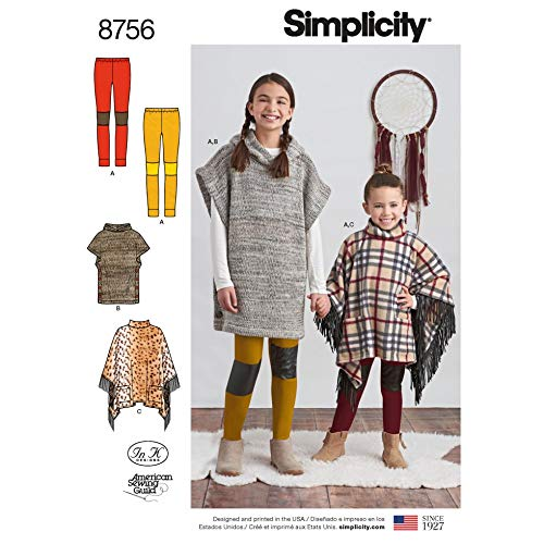 Simplicity Schnittmuster 8756 Ponchos/Leggings HH (36-38)