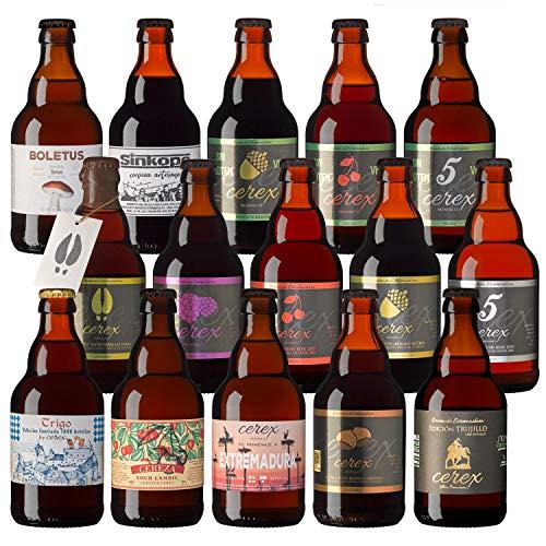 """CEREX- Pack Degustación Cervezas Artesanas – Mejor Cerveza Artesanal de España Premios """"World Beer Awards 2017"""" (Pack 15 Botellas)"""