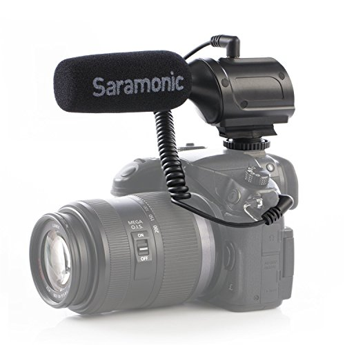 Saramonic SR-PMIC1 superniere camera microfoon richtmicrofoon condensatormicrofoon dslr externe microfoon video microfoon voor Nikon Canon Sony DSLR-camera's en -camcorder
