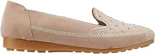 Ayakland Almira 4131 Günlük Taşlı Bayan Süet Babet Ayakkabı Pudra
