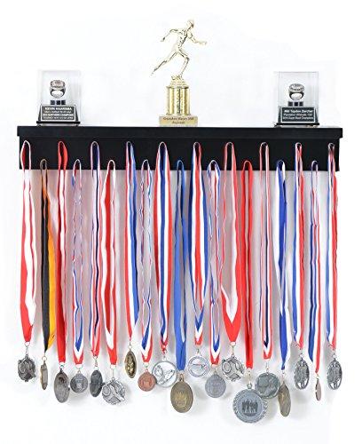 Brand New World Furniture Medal Display Rack (Wooden) Black