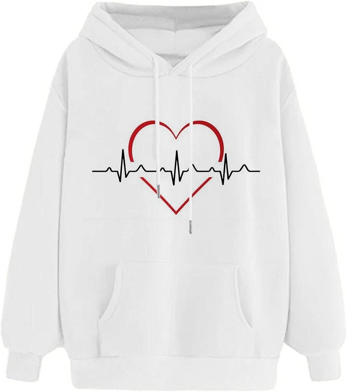 HIRIRI Loose Sweatshirt Hoodies Women's Printing Casual Pullover New products world's highest quality Topics on TV popular