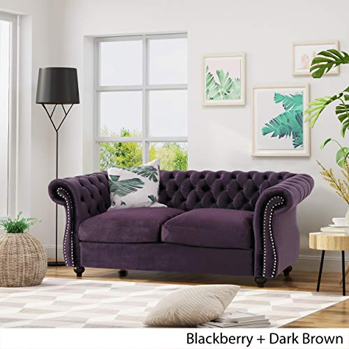 Christopher-Knight-Home-306026-Karen-Traditional-Chesterfield-Loveseat-Sofa-BlackBerry-and-Dark-Brown-6175-x-3375-x-2775