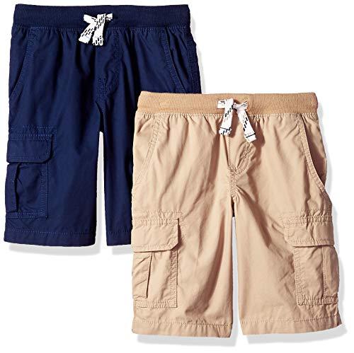 Carter's Boys' Toddler 2-Pack Pull-on Woven Shorts, Khaki/Navy, 3T