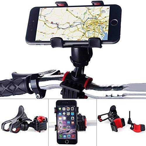 Universal Clip Mobile Phone Holder Adjustable 360 Degree Bike/Bicycle Handlebar Mount & Stand.