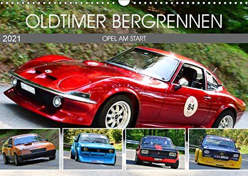 OLDTIMER BERGRENNEN - OPEL AM START (Wandkalender 2021 DIN A3 quer)