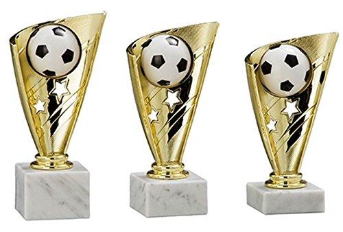 RaRu 3er-Serie Fußball-Pokale mit Wunschgravur