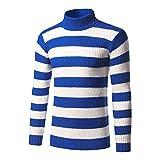Jersey de punto para hombre, cuello de polo, cuello redondo, exclusivamente, para invierno, esquí, golf, calidad elástica, jersey de algodón (color: negro, tamaño: L)