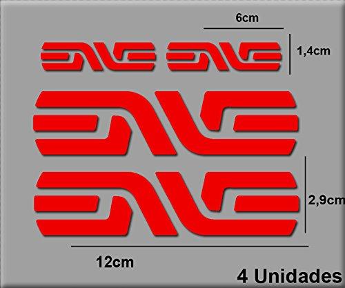 Ecoshirt AG-XPIX-910G Pegatinas Enve R39 Vinilo Adesivi Decal Aufkleber Клей MTB Stickers Bike, Rojo