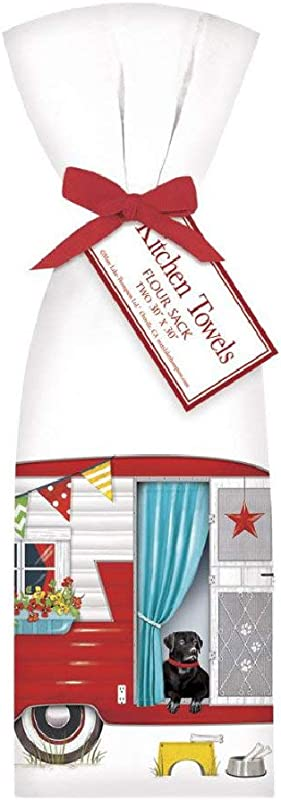 Mary Lake Thompson Summer Fun Camper Flour Sack Oversize Towel 30 X 30 Inches Set Of 2