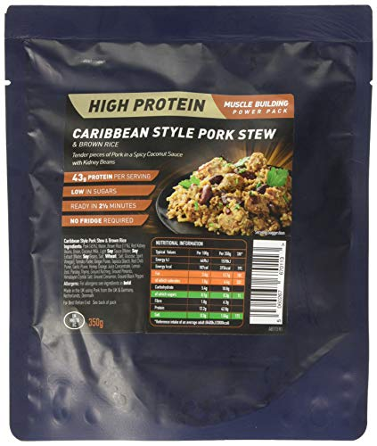 Performance Meals Caribbean Style Pork Stew and Brown Rice, 350 g