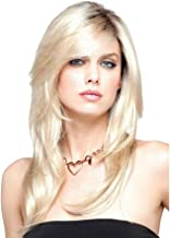 BKKENIDN Ladies Gold Wig Long and Medium Hair Straight Hair Micro-Volume Pear Flower Long Hair Head Top Dyeing Gradient Hot Silk African Wigs for Any Face Type