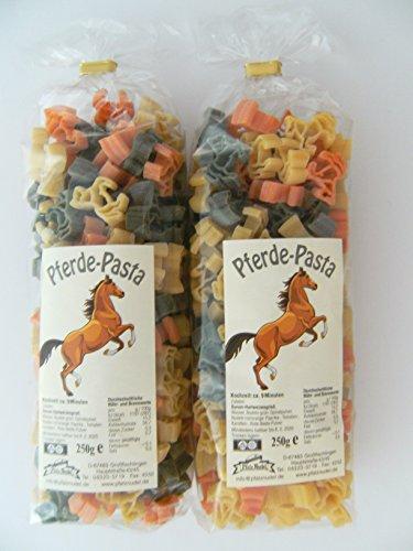 Streuteile Pferde aus Nudelteig, 2X 250 g, Nudeln, Pasta, Dekoration, Delikatesse, Tiere, Pferd Pony