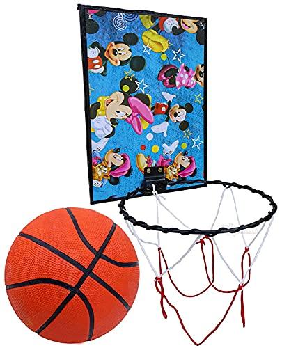 Toyshine Indoor Door and Wall Mountable Basketball Hoop Set, with 3 No Basketball (Color May Vary) (SSTP)-B