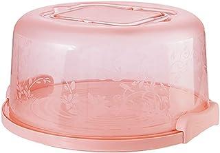lqgpsx Boîte de Rangement de gâteau Portable Transparent Organisateur de Dessert Rond Anniversaire Mariage Cuisine Support...