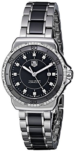 TAG Heuer Women's WAH1312.BA0867 'Formula 1' Stainless Steel Two-Tone Watch with Diamonds