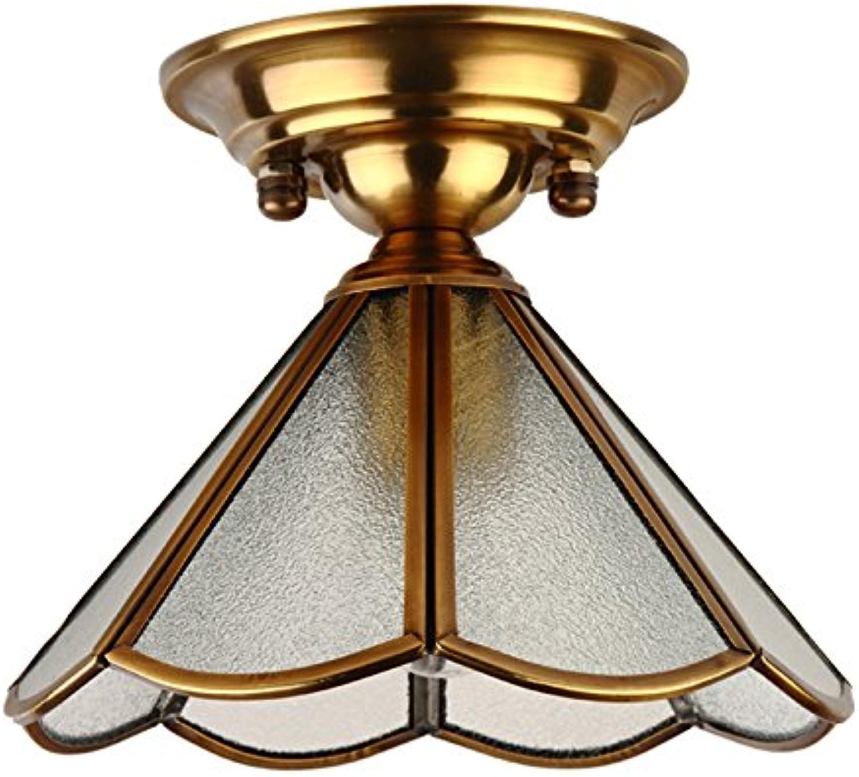 Omped europischer Typ voll Kupfer Leuchte Deckenleuchten Zimmer Buchen Zimmer Balkon Gang Badezimmer Lampe Lampe, Wohnzimmer, Schlafzimmer, Schlafzimmer Leuchte Lampe, Gate Lampe