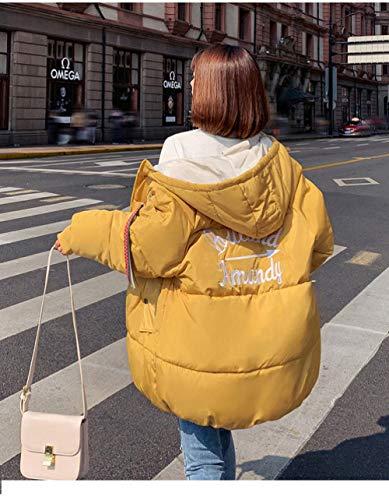 WFSDKN Parka Down Dameswinter, voor dames, lange broodjes, voor Koreaanse studenten, losse katoenen jas
