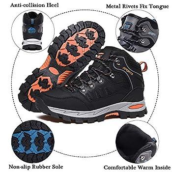 Rokiemen Chaussures de Randonnée Hautes Homme Femme Extérieure Antidérapants Bottes de Trekking