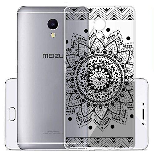 Sunrive Cover per Meizu M5S 5,2 Pollici, Custodia Case in Molle Trasparente TPU Silicone Morbida Flessibile Pelle AntiGraffio Protettiva(TPU Fiore...